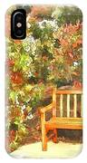 Do-00122 Inviting Bench IPhone Case