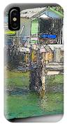 Do-00128 Boatshed At Brisbane Water IPhone Case
