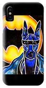 Dog Superhero Bat IPhone Case