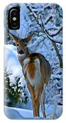 Doe In The Snow In Spokane 2 IPhone Case