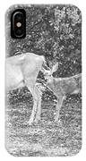 Doe With Twins Pencil Rendering IPhone Case