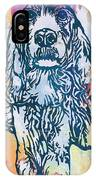 Dog Pop Etching Art Poster IPhone Case