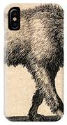 Dog With Rabies, Engraving, 1800 IPhone Case