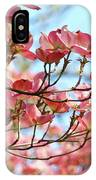 Dogwood Tree Landscape Pink Dogwood Flowers Art IPhone Case