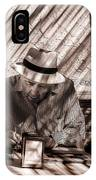 Doing The Crossword Puzzle IPhone Case