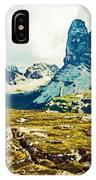Dolomites, Monte Piana, Italy IPhone Case