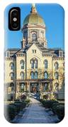 Dome At University Of Notre Dame  IPhone Case