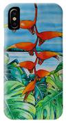 Dominican Heliconia IPhone Case