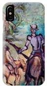 Don Quixote With Dragon IPhone Case
