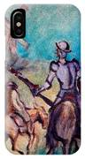 Don Quixote With Windmill IPhone Case