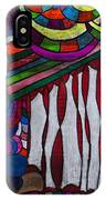Doodle Page 6 - Bones And Curtains - Ink Abstract IPhone Case