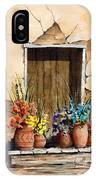 Door With Flower Pots IPhone Case