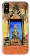 Doorway To Wat Ratburana In Ayutthaya, Thailand IPhone Case