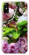 Double Cherry Blossoms IPhone Case