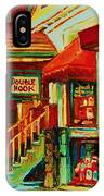 Double Hook Book Nook IPhone Case