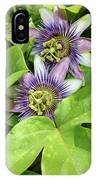 Double Passion Flowers IPhone Case