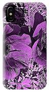 Double Poppies In Purple IPhone Case