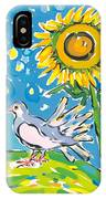 Dove And Sunflower IPhone Case