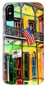 Down On Bourbon Street IPhone Case