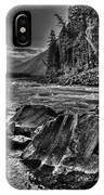 Down Stream Bw IPhone Case
