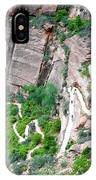 Downhill Switchbacks From Angels Landing IPhone Case