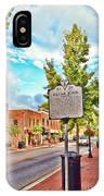 Downtown Blacksburg With Historical Marker IPhone Case