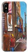 Downtown Montreal Streetscene At La Senza IPhone Case