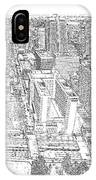 Downtown St. Louis Panorama Sketch IPhone Case