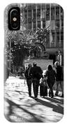 Downtownscape - Black And White IPhone Case