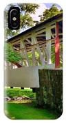 Dr. Knisley Covered Bridge IPhone Case