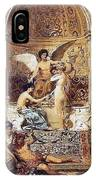 Draft Curtain Theatre In Krakow 1894 2 Henryk Semiradsky IPhone Case