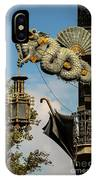 Dragon And Umbrella Sing In Barcelona IPhone Case