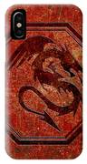 Dragon In An Octagon Frame With Chinese Dragon Characters Red Tint  IPhone Case