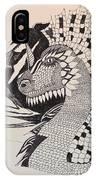 Dragon - Zentangle 16-04 IPhone Case