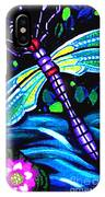 Dragonfly And Water Lily IPhone Case