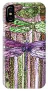 Dragonfly Bloomies 3 - Pink IPhone Case