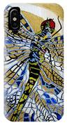 Dragonfly On Gold Scarf IPhone Case