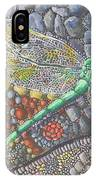 Dragonfly On Stone Path IPhone Case