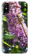 Dragonfly On The Butterfly Bush IPhone Case
