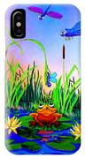Dragonfly Pond IPhone Case
