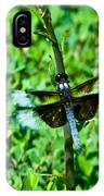 Dragonfly Resting On Stem IPhone Case