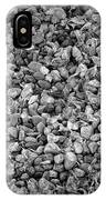 Dramatic Black And White Petals On Stones IPhone Case