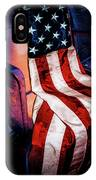 Draped American Flag IPhone Case