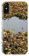 Dried Leaves In A Pond IPhone Case