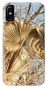 Dried Palm Fronds In The Wind IPhone Case