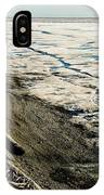 Driftwood On The Frozen Arctic Coast IPhone Case