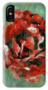 Dripping Poster Rose On Green IPhone Case