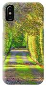 Drive Into Autumn IPhone Case