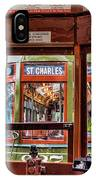 Driver St. Charles Trolley New Orleans IPhone Case