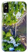 Drone Shot Of Lake 22 Bridge IPhone Case